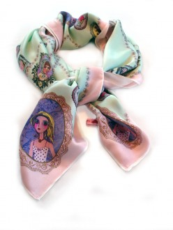 Cameo and Pearl Scarf Scrunched