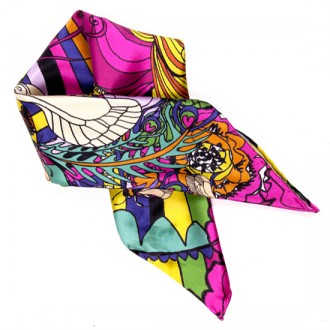 Honey Bee neck tie folded