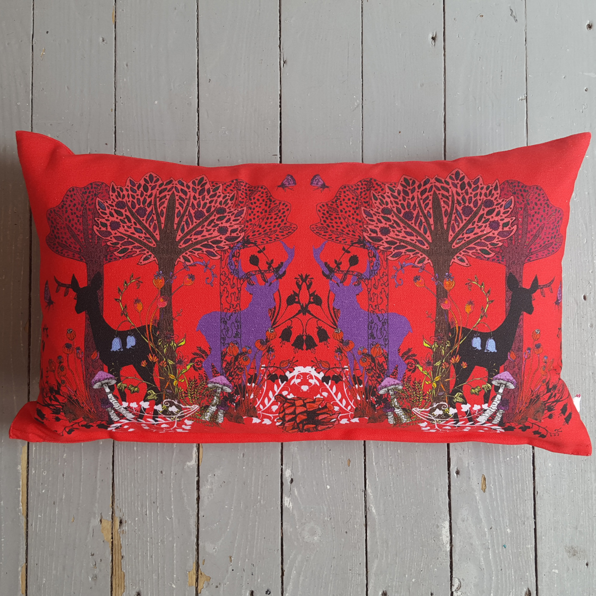 ruby-stag-velvet-cushion
